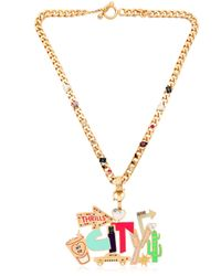 Maria Francesca Pepe | Metallic Street Neon Necklace | Lyst