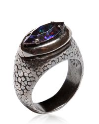 Emanuele Bicocchi - Metallic Amethyst Swarovski Ring - Lyst