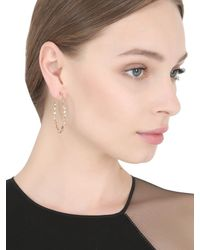 Suzanne Kalan - Pink Vitrine Hoop Earrings - Lyst