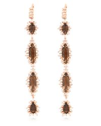 Suzanne Kalan | Metallic Diamond & Quartz Earrings | Lyst