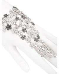 Colette - Black Flower Hand Bracelet - Lyst