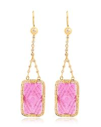 Jade Jagger | Purple Ruby & Diamonds Drop Earrings | Lyst