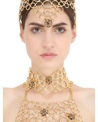 Idriss Guelai Atelier - Metallic Eleonora Body Harness With Crown - Lyst