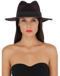 Gladys Tamez Millinery - Purple Saint Marie Velour Felt Hat - Lyst