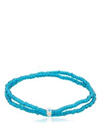Luis Morais | Blue Double Wrap Beaded Bracelet | Lyst