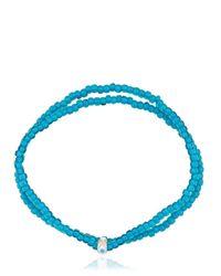 Luis Morais - Blue Double Wrap Beaded Bracelet - Lyst