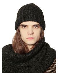 Cheap Monday | Black Techno Knit Beanie Hat for Men | Lyst