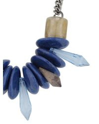 Ortys - Blue Stone Necklace - Lyst