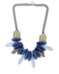 Ortys | Blue Stone Necklace | Lyst