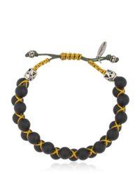 Cantini Mc Firenze - Black Bead Bracelet - Lyst