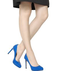 Valentino - Blue 120mm Plain Patent Leather Pumps - Lyst