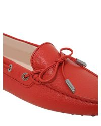 Tod's | Orange Heaven Laccetto Leather Driving Shoes | Lyst