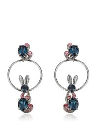 Mawi | Blue Bunny Love Earrings | Lyst