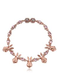 Mawi | Pink Bunny Love Necklace | Lyst