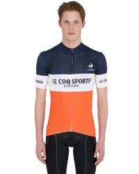 Le Coq Sportif | Blue Cycling Performance Tour De France Polo for Men | Lyst