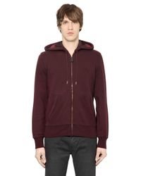 Burberry Brit | Purple Zip-Up Cotton-Blend Hoodie for Men | Lyst
