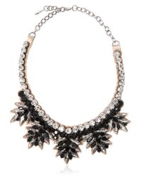 Valentino | Black Swarovski Crystals Necklace | Lyst