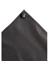 Gtie   Black Leather Pocket Square for Men   Lyst