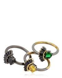 Iosselliani - Multicolor All That Jewelry! Set Of 3 Rings - Lyst