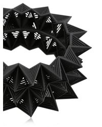 Vojd Studios - Black Diamond Shaped Bangle Bracelet - Lyst