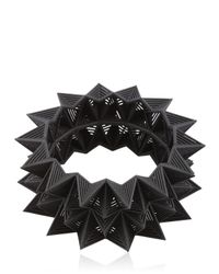Vojd Studios - Black Diamond Shaped Bangle Bracelet - Lyst