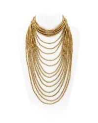 Night Market | Metallic Multi Strand Beaded Necklace | Lyst