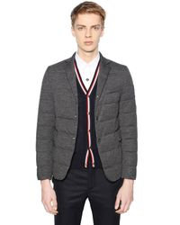 Moncler Gamme Bleu | Gray Wool Down Jacket for Men | Lyst