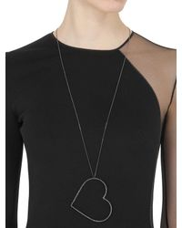 Seeme | Blue Sapphires Heart & Long Chain Necklace | Lyst
