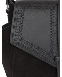 Isabel Marant - Black Hacey Nappa Leather & Suede Shoulder Bag - Lyst