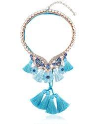 Shourouk   Blue Apache Necklace   Lyst