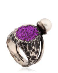 Voodoo Jewels | Metallic Sigillum Ring With Pearl | Lyst