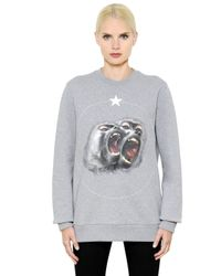 Givenchy | Gray Monkey Printed Cotton Jersey Sweatshirt | Lyst