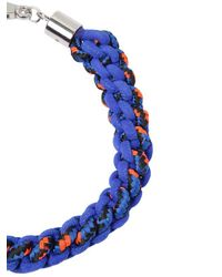 DSquared² - Blue Scoubidou Braided Rope Necklace - Lyst