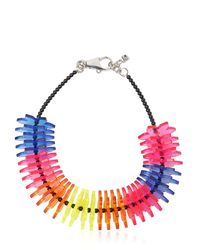 DSquared² | Blue Origami Perspex Flowers Necklace | Lyst