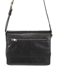 Bally | Black Tamrac Leather Messenger Bag for Men | Lyst