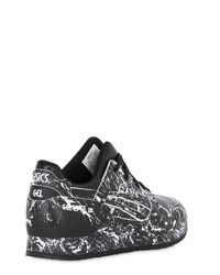 Asics - Black Gel-lyte Iii Marble Leather Sneakers for Men - Lyst