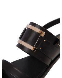 Roger Vivier | Black 25mm Skyscraper Buckle Leather Sandals | Lyst