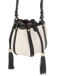 See By Chloé - White Vicki Grained Leather Bucket Bag - Lyst
