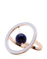 Uribe - Blue Linnet Double Finger Ring - Lyst