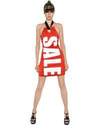 Moschino | Red Sale Stretch Envers Satin Halter Dress | Lyst