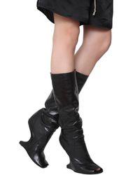 Rick Owens | Black Concealed Wedge Boot | Lyst
