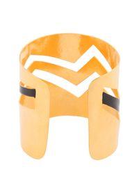 Herve Van Der Straeten - Metallic Broken Cuff Bracelet - Lyst