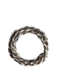 Emanuele Bicocchi - Metallic Silver Chain Ring for Men - Lyst