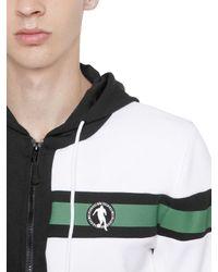 Bikkembergs - Black Two Tone Zip-up Nylon Sweatshirt for Men - Lyst