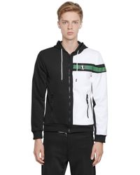Bikkembergs | Black Two Tone Zip-up Nylon Sweatshirt for Men | Lyst