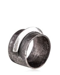 Henson - Metallic Single Blade Ring for Men - Lyst