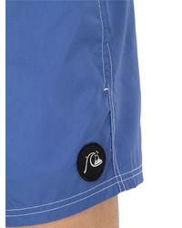 "Quiksilver - Blue Volley 14"" Nylon Swimming Shorts for Men - Lyst"