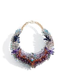 Ken Samudio - Metallic Swarovski Crystals & Plastic Necklace - Lyst
