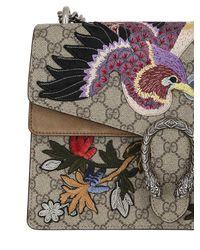 Gucci - Brown Dionysus Medium Appliquéd Coated Canvas And Suede Shoulder Bag - Lyst