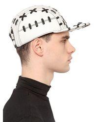 KTZ - Black Two Tone Woven Leather Baseball Hat for Men - Lyst